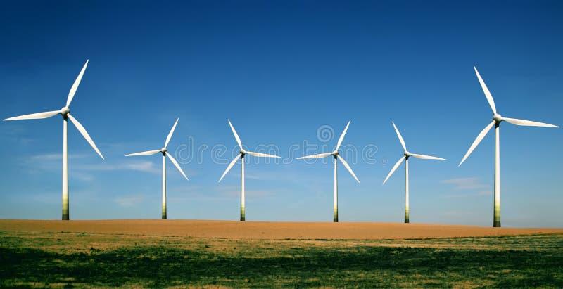 turbina wiatr rolnych zdjęcie royalty free
