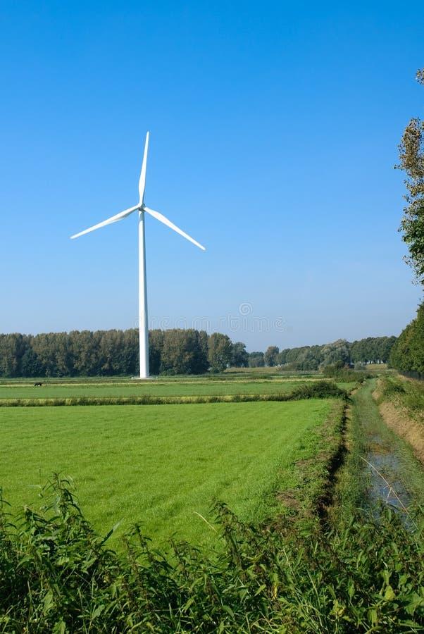 turbina wiatr rolnych obraz stock