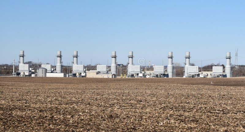 Turbinas de gas naturales imagen de archivo libre de regalías