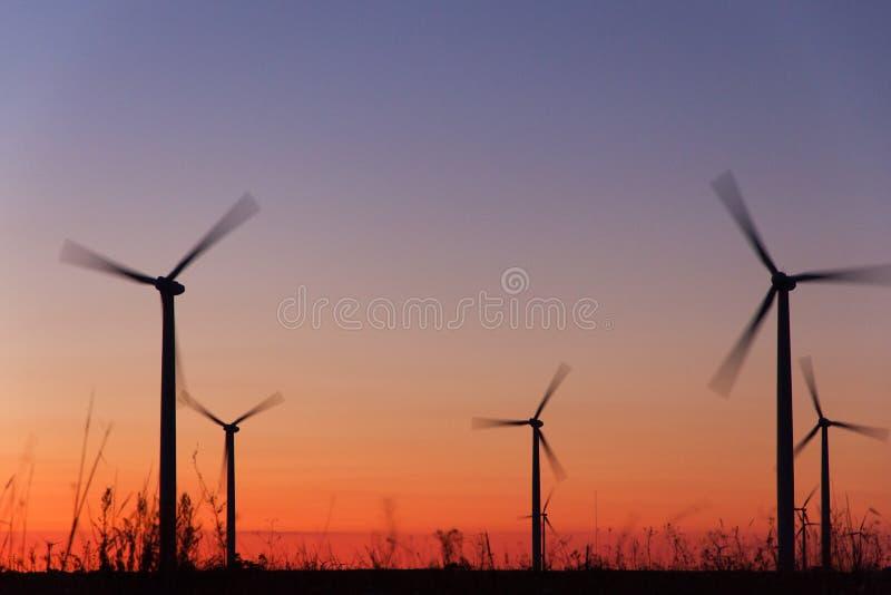 Turbinas de la energía eólica foto de archivo libre de regalías