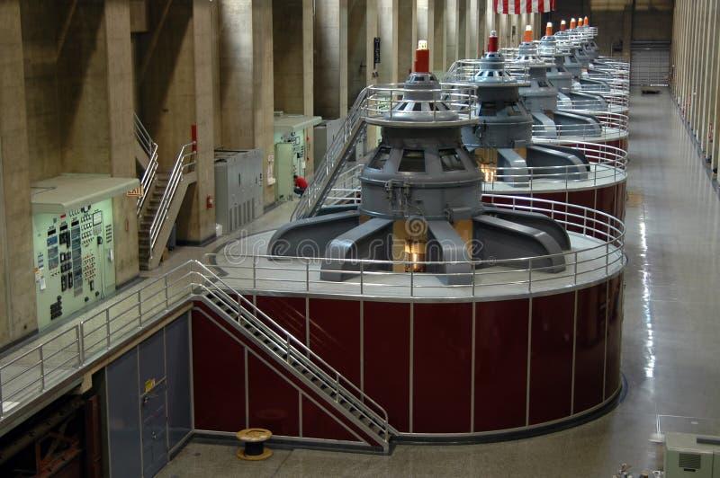 Turbinas de la presa de Hoover imagen de archivo libre de regalías