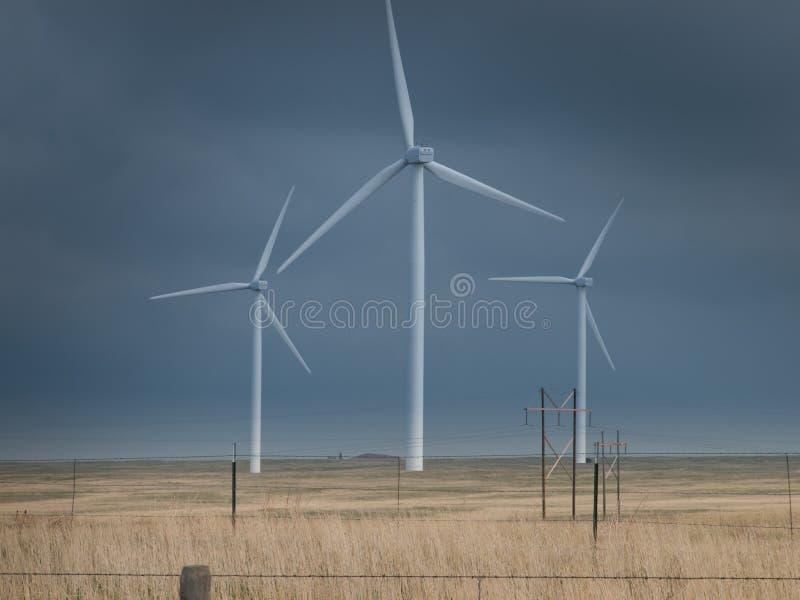 Turbinas de vento fotos de stock
