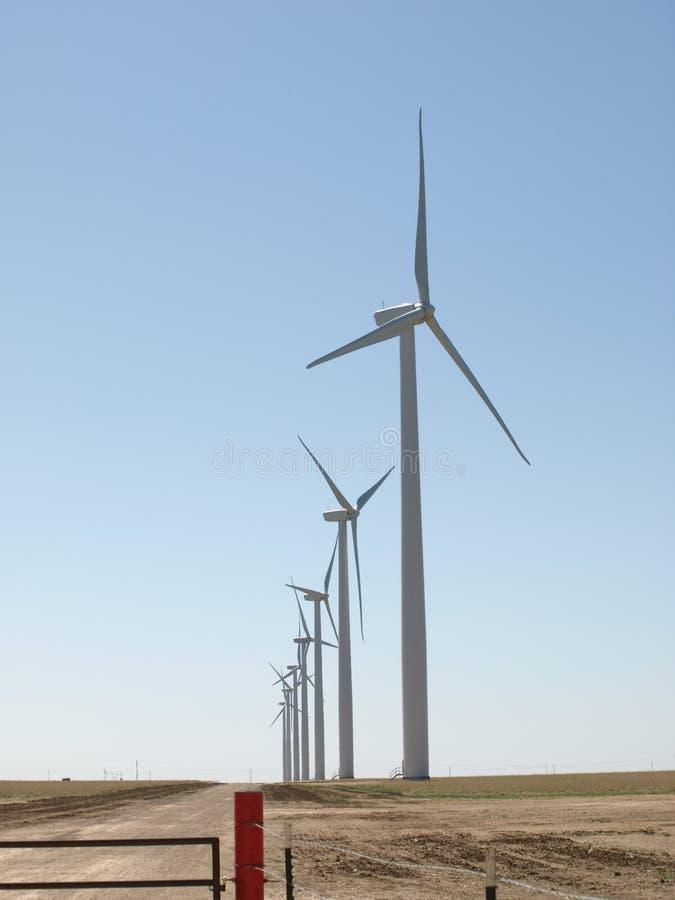 Turbinas de vento de Texas foto de stock