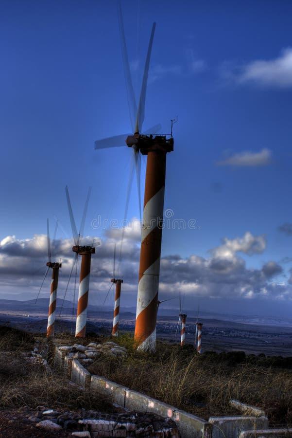 Turbinas de vento em Israel imagens de stock
