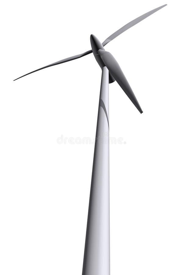 Turbinas de vento isoladas 2 fotos de stock