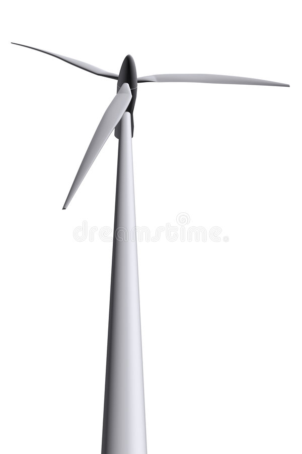 Turbinas de vento isoladas fotos de stock royalty free
