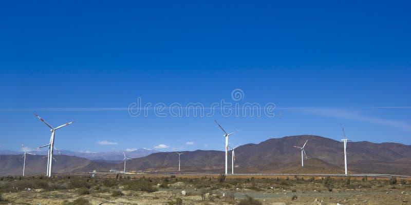 Turbinas de vento que geram a eletricidade fotografia de stock royalty free