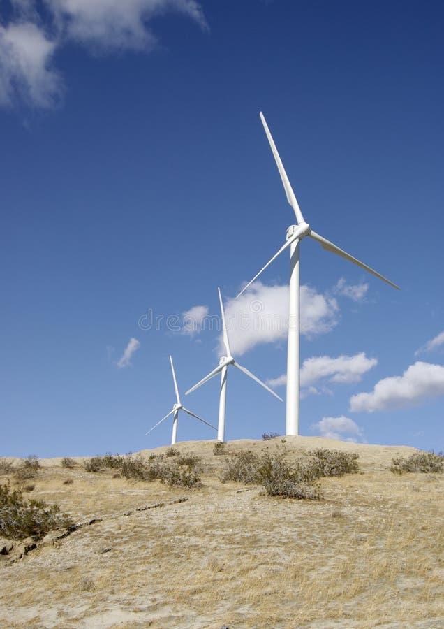 Turbinas de vento verticais foto de stock