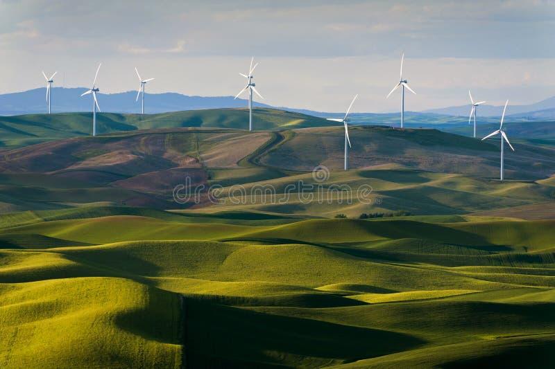Turbinas de viento de la mota de Steptoe foto de archivo libre de regalías