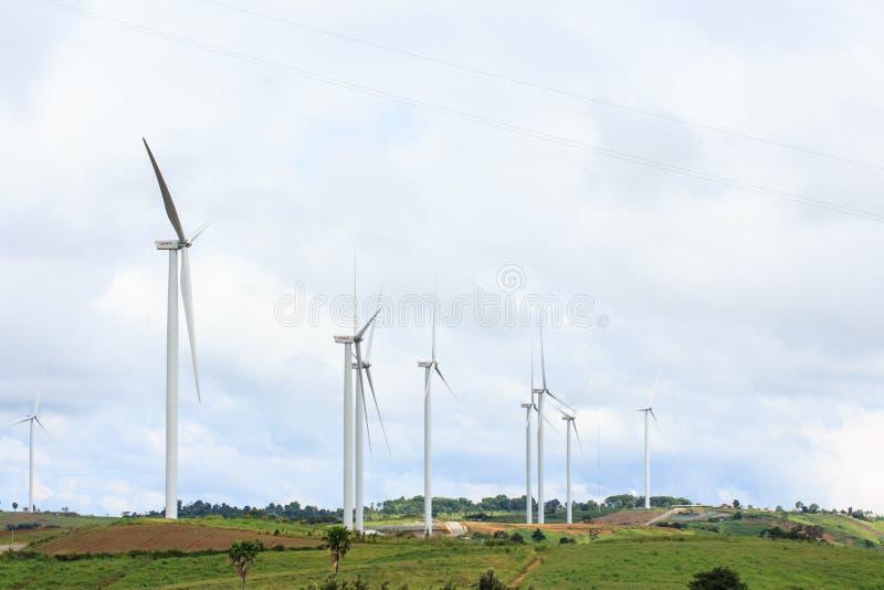 Turbinas de viento en el parque del kho del khao fotos de archivo libres de regalías