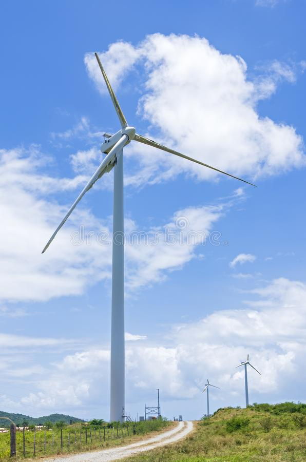 Turbinas de viento en Punta Lima Wind Farm imagen de archivo