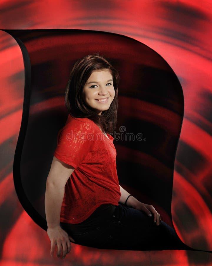Turbinato nel colore rosso fotografia stock libera da diritti