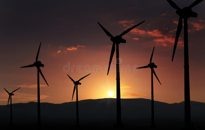 Turbine éolienne image stock