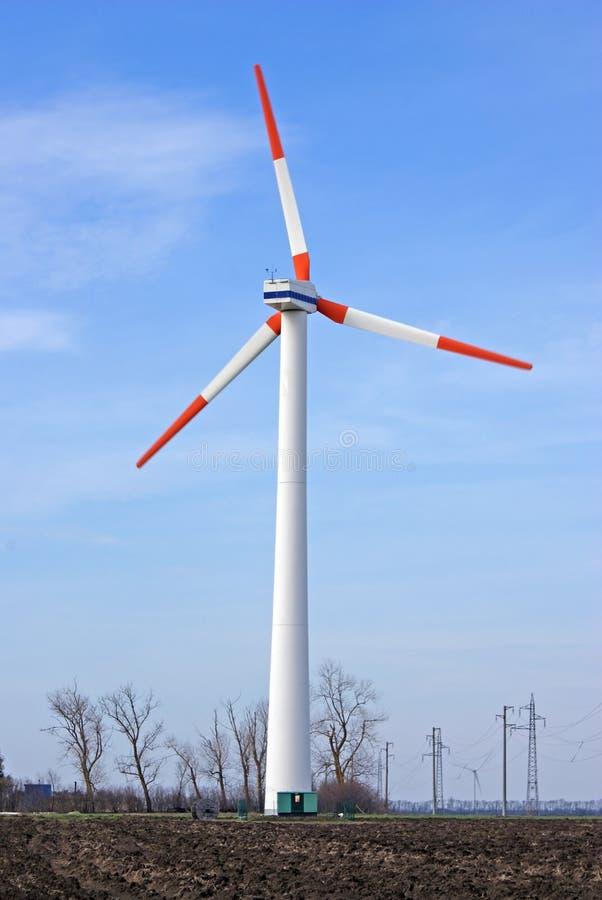 Turbine éolienne de pylône image libre de droits
