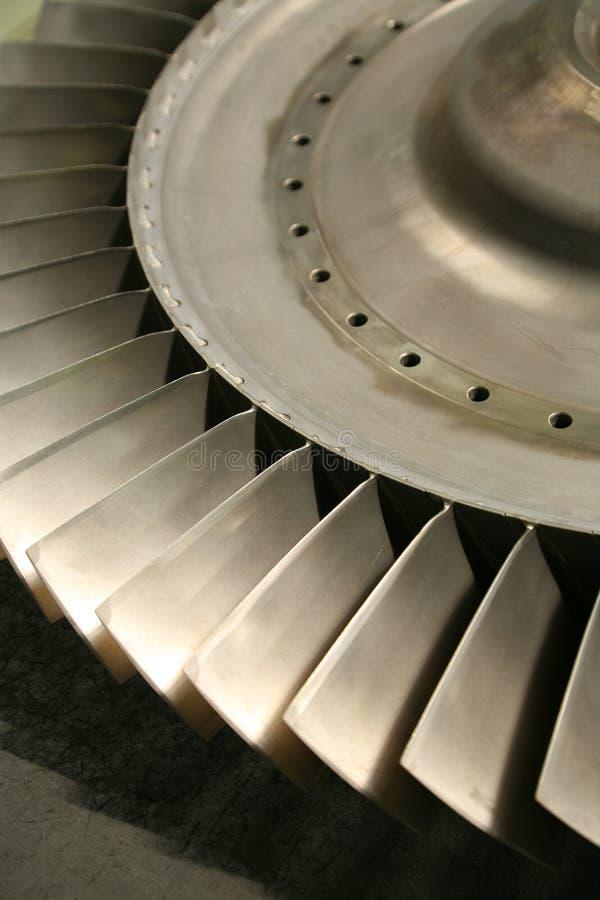 Turbine blades stock image