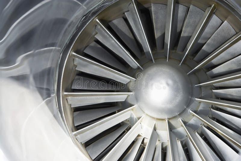Turbine d'un avion images libres de droits