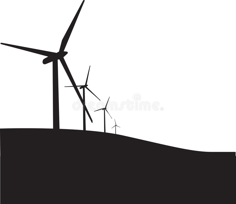 turbine de silhouette illustration stock