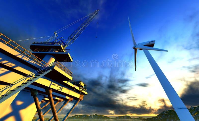 turbine de vent illustration de vecteur