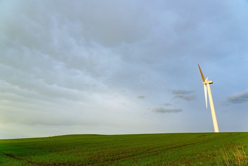 Turbine de vent dans les domaines image libre de droits