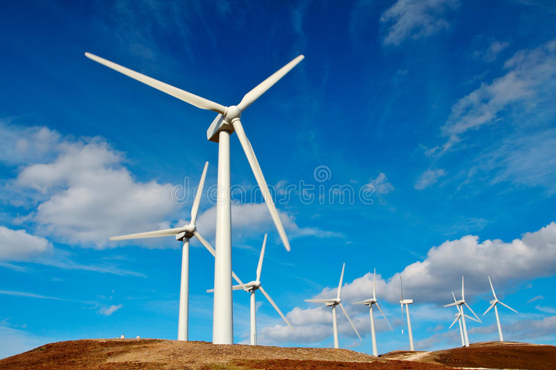 Turbine di vento immagine stock