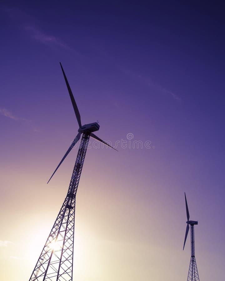 Turbine di vento fotografie stock libere da diritti
