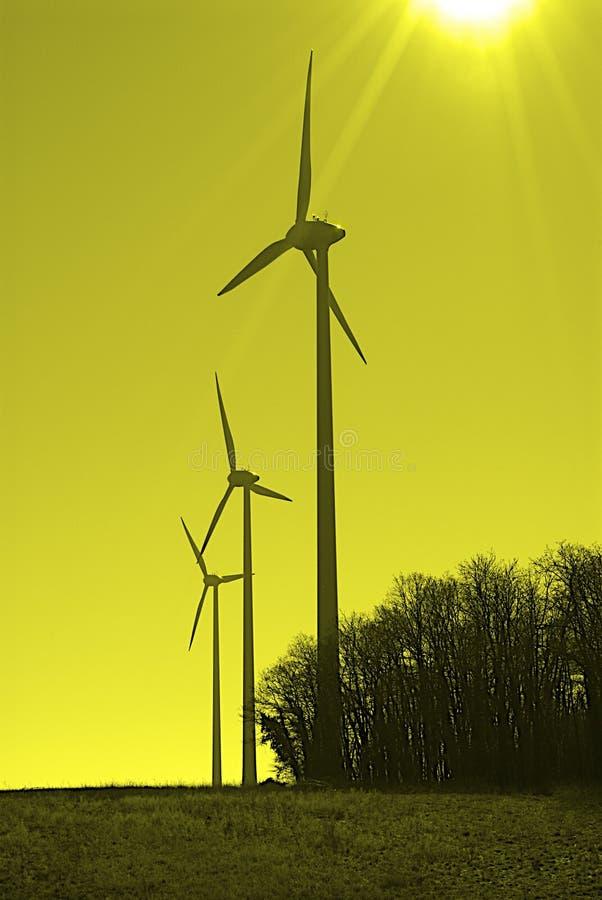 Turbine di vento immagini stock