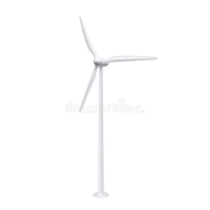 Turbine di vento nel campo verde illustrazione vettoriale
