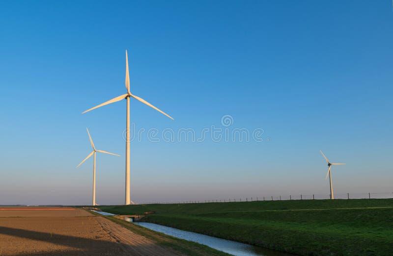 Turbine di vento in Olanda fotografia stock