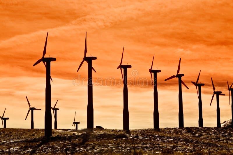 Turbine di vento per energia pulita fotografia stock