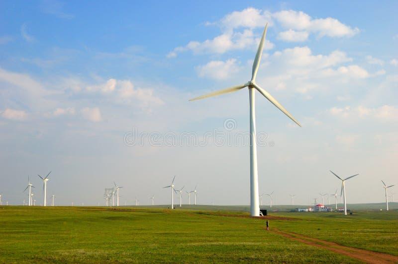Turbine di vento in porcellana del nord fotografia stock