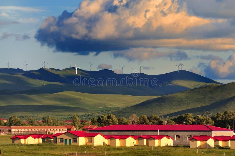 Turbine di vento in porcellana del nord immagini stock