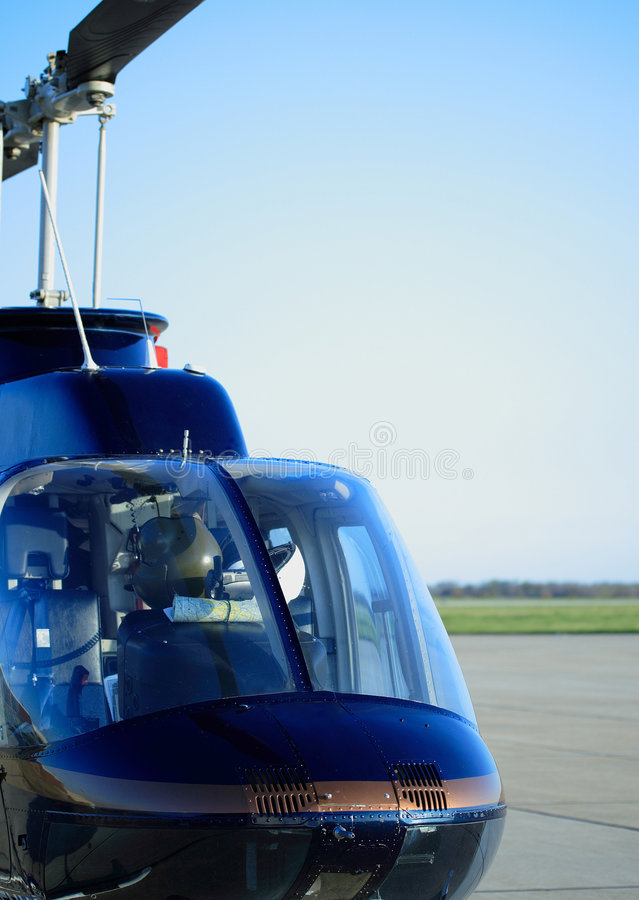 Turbine Helicopter royalty free stock photography