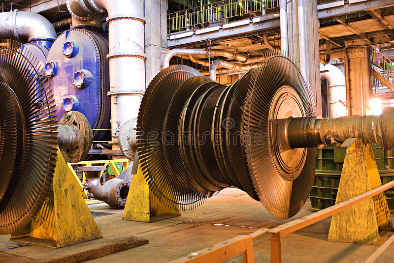 Turbine - hors de la réparation d'action photos stock