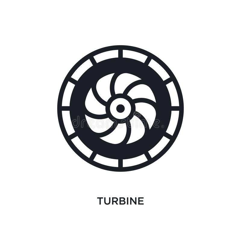 Turbine isolated icon. simple element illustration from electronic devices concept icons. turbine editable logo sign symbol design. On white background. can be royalty free illustration