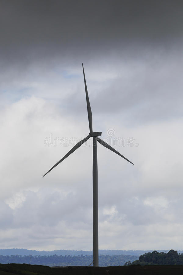 Turbine. Large Wind Turbines To address the city's aging electricity stock photo