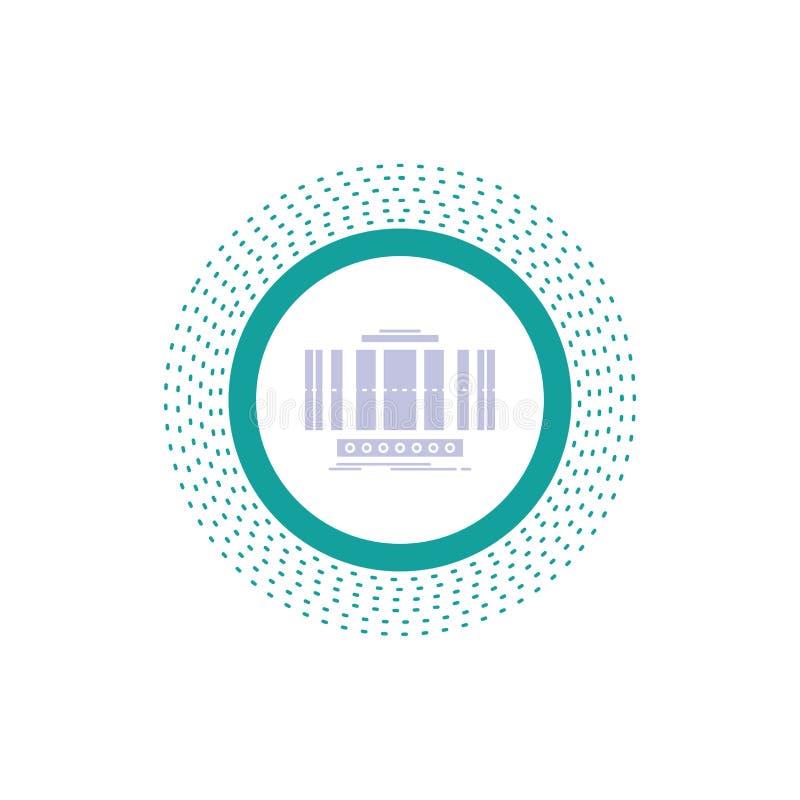 Turbine, verticale, axe, vent, icône de Glyph de technologie Illustration d'isolement par vecteur illustration stock