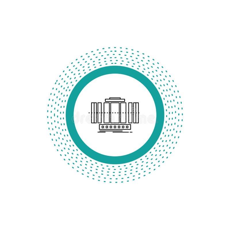 Turbine, verticale, axe, vent, ligne icône de technologie Illustration d'isolement par vecteur illustration libre de droits
