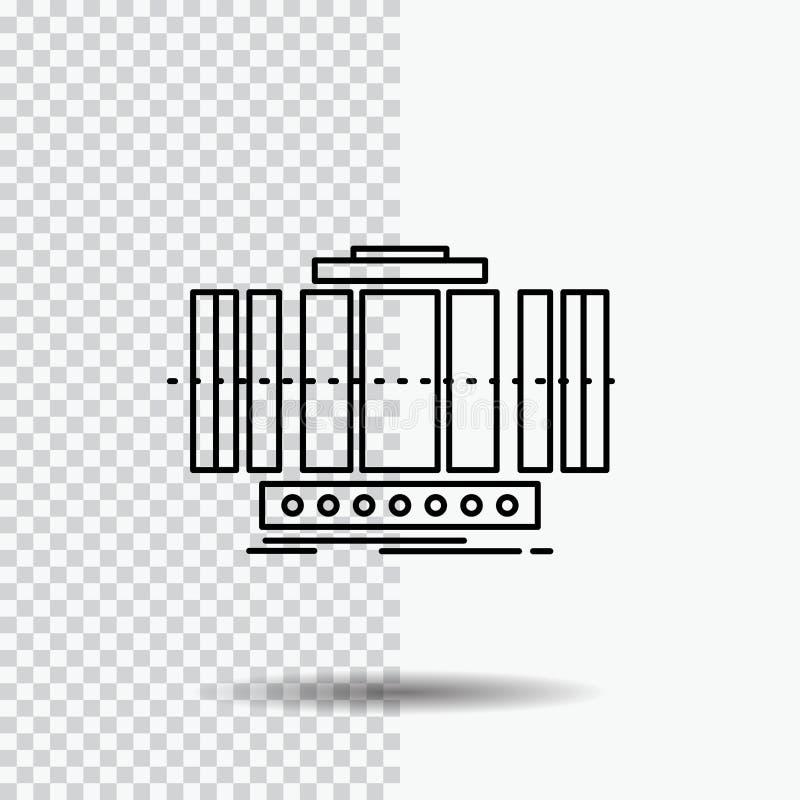 Turbine, verticale, axe, vent, ligne ic?ne de technologie sur le fond transparent Illustration noire de vecteur d'ic?ne illustration de vecteur