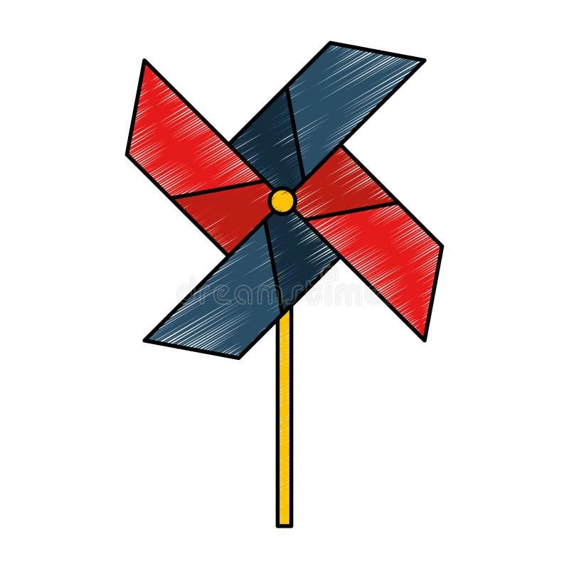Turbinedocument geïsoleerd pictogram royalty-vrije illustratie