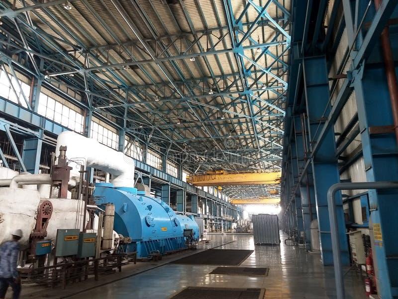 Turbinegebied in Thermische Elektrische centrale stock foto's
