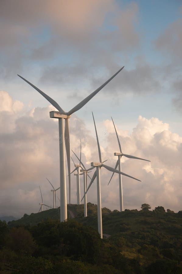 Turbinen des Sidrap-Windparks in Indonesien stockfoto