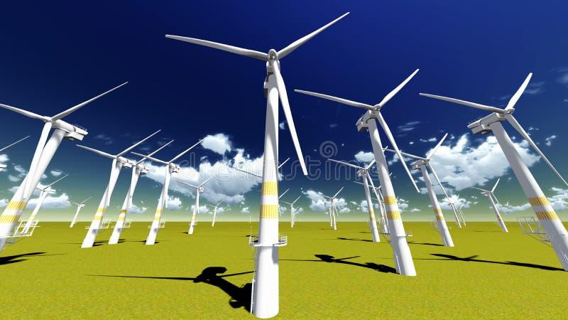 Turbines électriques illustration de vecteur