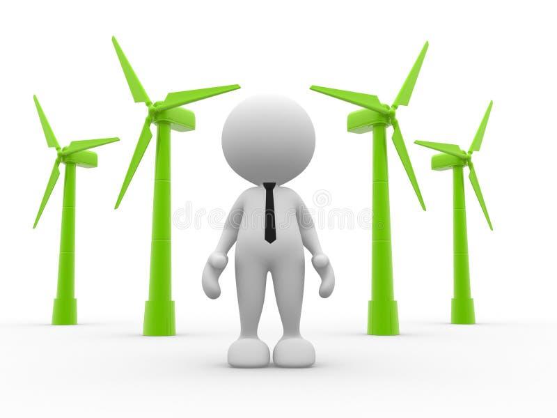 Turbines stock illustratie