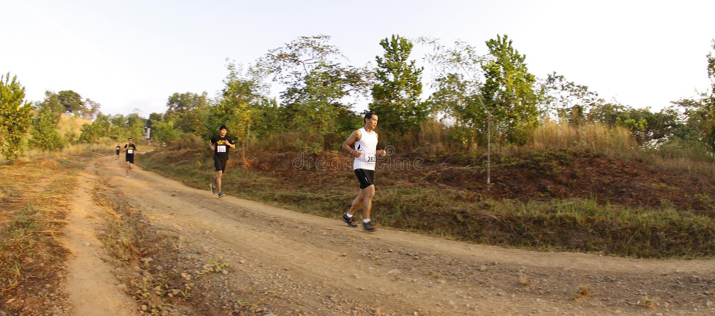 Turbines de journal de marathon photos libres de droits