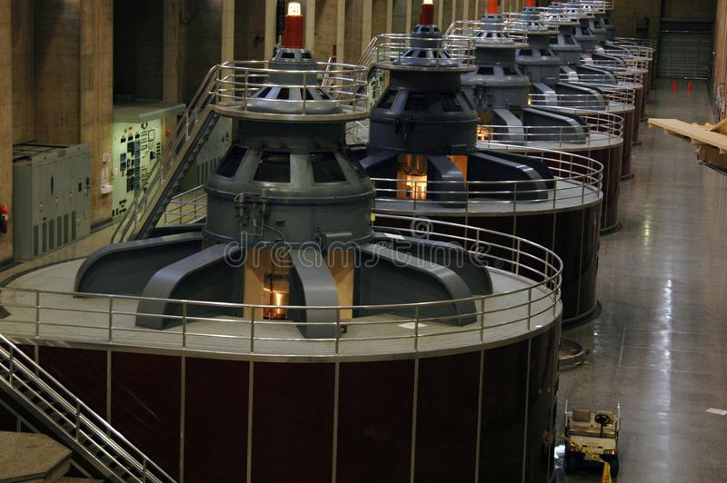 Turbines de production d'électricité image libre de droits