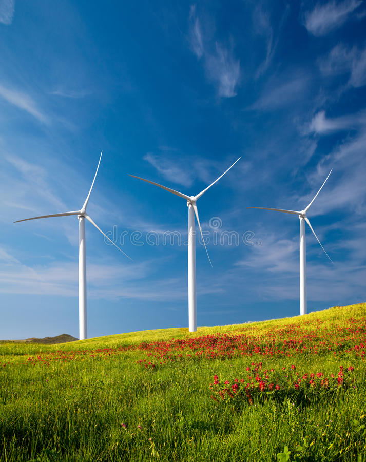 Turbines de vent photo stock