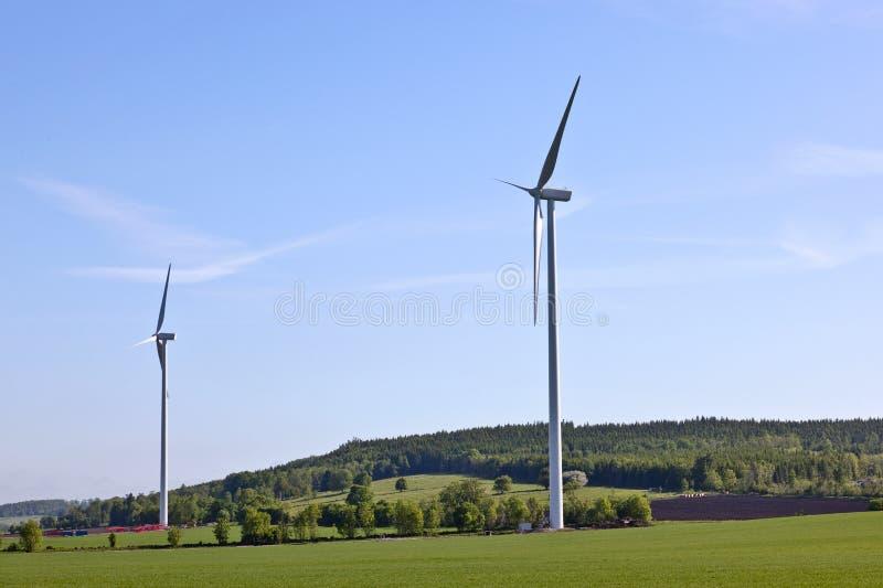 Turbines de vent image libre de droits