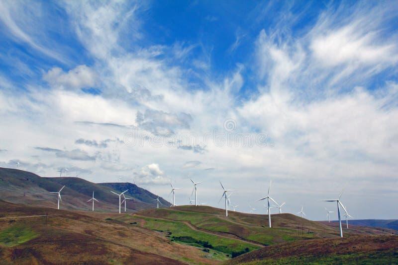 Turbines de vent images libres de droits