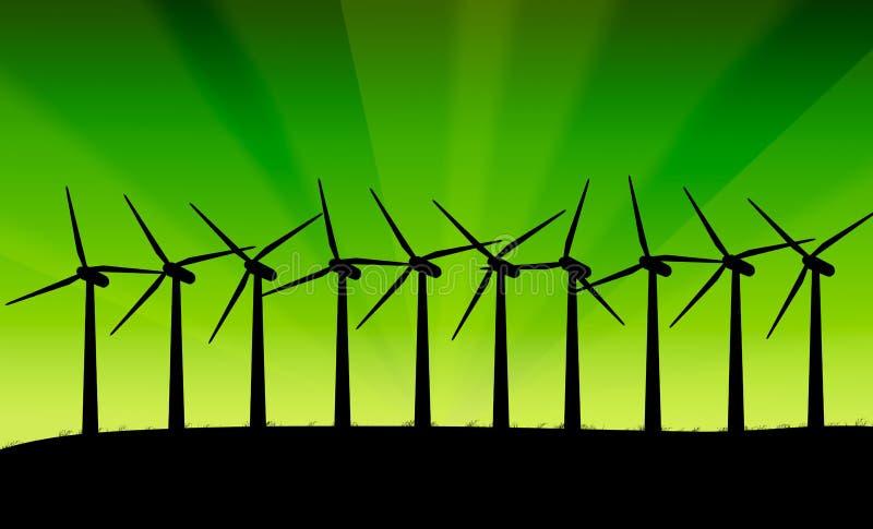 Turbines de vent. illustration de vecteur