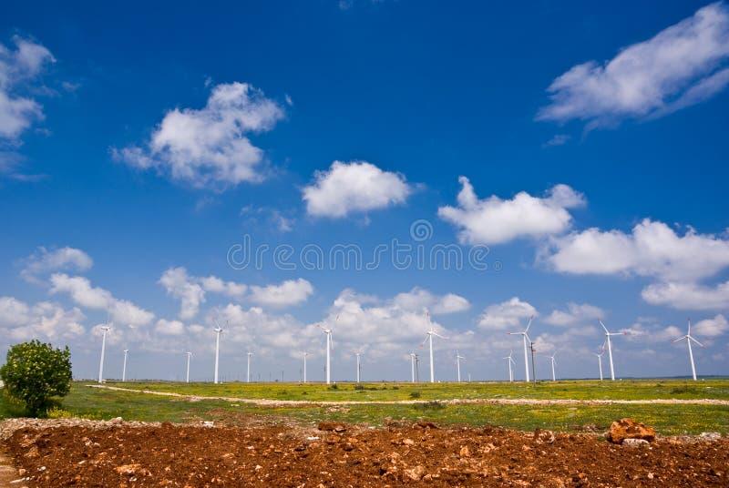 Turbines de vent photographie stock libre de droits
